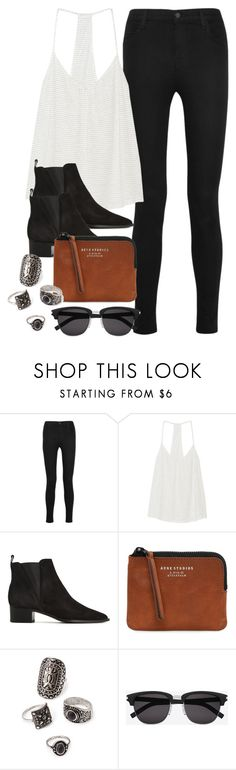 """Style #10366"" by vany-alvarado ❤ liked on Polyvore featuring J Brand, Eberjey, Acne Studios, Forever 21 and Yves Saint Laurent"