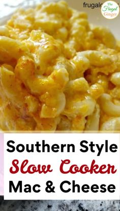 I love making this Southern Style Slow Cooker Macaroni and cheese recipe! It's so easy to throw everything together in the Crock pot to serve for a crowd. See how simple it is to make! Best Mac And Cheese Recipe Easy, Slow Cooker Macaroni And Cheese Recipe, Best Macaroni And Cheese, Macaroni Cheese Recipes, Mac And Cheese Homemade, Slow Cooker Recipes, Crockpot Recipes, Cooking Recipes, Gastronomia