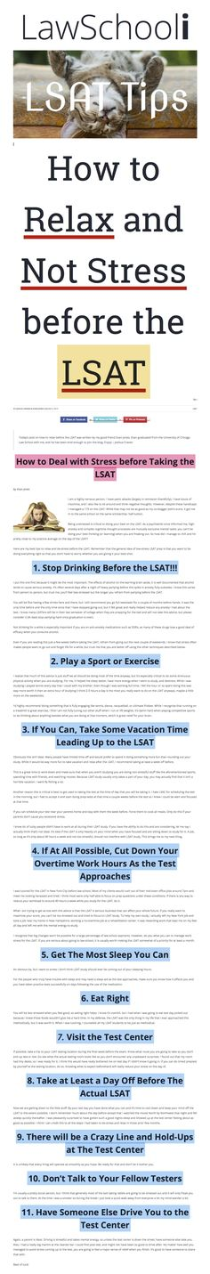 61 best pre law images on pinterest lsat prep college life and gym how to relax and not stress before the lsat malvernweather Choice Image