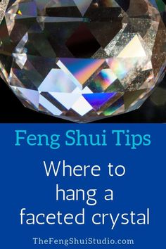Use a Feng Shui faceted crystal to balance and harmonize energy in your home. Le… Use a Feng Shui faceted crystal to balance and harmonize energy in your home. Learn the where and how here. Feng Shui Lit, Feng Shui Rules, Feng Shui Items, Feng Shui Energy, Feng Shui Principles, Feng Shui Plants, Feng Shui Wealth, Feng Shui Bedroom Tips, Feng Shui Bathroom