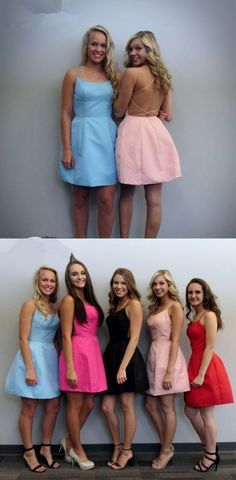 Cute Short Pink Homecoming Dress with Pockets, short homecoming dresses, 2018 homecoming dresses, short prom dresses, blue homecoming dress Yellow Homecoming Dresses, Backless Homecoming Dresses, Prom Dresses 2018, Plus Size Prom Dresses, Formal Evening Dresses, Elegant Dresses, Party Dresses, Short Dresses, Amazing Dresses