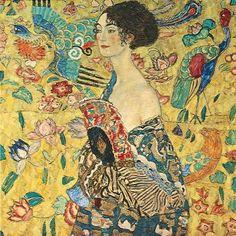 Gustav Klimt  Lady with Fan