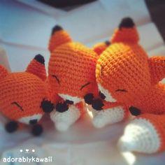 3 sleepy fox amigurumi by adorablykawaii on deviantART