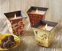 Toscano Cache Pot Candles