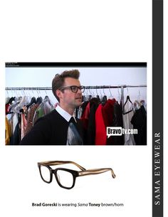 83e8419ad5d2 Brad Goreski of It's a Brad, Brad World is wearing Sama Eyewear