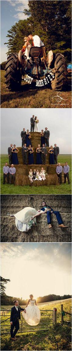 unique country farm wedding photo ideas #weddingideas #countrywedding #rusticwedding #farmwedding #wedding2018