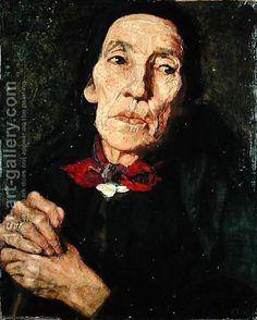 Wilhelm Leibl:The Old Farmer, 1875