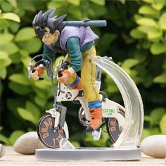 27.99$  Watch now - http://ai44a.worlditems.win/all/product.php?id=32798254107 - 1pc/lot Action Figures DRAGON BALL Goku Cycling PVC Battle Version Doll Toys Cartoon Collectible Model Anime 23cm