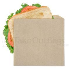 Double Opening Grease Resistant Kraft Sandwich Bags - 7 x 6.75 in.