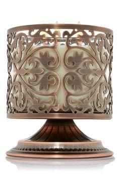 Stylish Scroll Pedestal 3-Wick Candle Sleeve Pedestal - Home Fragrance - Bath & Body Works