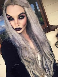 The future is feminin Goth Beauty, Hair Beauty, Black And Grey Hair, Pastel Pink Hair, Pastel Goth, Gorgeous Makeup, Pretty Makeup, Alternative Hair, Goth Aesthetic