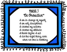 Leader in Me Bulletin Boards | ... posters 4-8 grade - suppports the 7 habits and Leader in me model