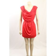 Coral party dress / clubwear dress by Jessica Simpson in a stretch matte jersey. It has a scoop neck. waist tie and is above in knee in length. Coral Party, Clubwear Dresses, Premium Brands, Hot Dress, Sleeve Styles, Designer Dresses, Party Dress, Scoop Neck, Clothes For Women