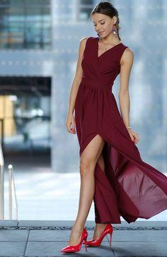 f900fb94bf Roco 0213 sukienka bordowa Przepiękna sukienka maxi