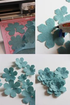 Did you know that there are 50 free projects that come with the cricut maker there are so many fun options i chose this cute felt wreath read on for the tutorial Flower Crafts, Diy Flowers, Fabric Flowers, Paper Flowers, Felt Flower Template, Felt Flower Tutorial, Bow Tutorial, Bow Template, Felt Flower Wreaths
