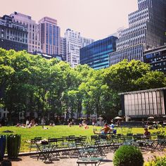 Bryant Park NYC Nice place  to just relax and have a bite to eat.