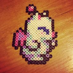 Moogle perler sprite.  I love all the Moogles, but the ones from SoM are my personal favorite.