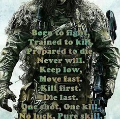 This is no brag, just plain fact. The sniper and his spotter form an Army of One by acting as a single unit. Military Quotes, Military Humor, Military Life, Soldier Quotes, Army Quotes, Le Sniper, Wisdom Quotes, Life Quotes, Great Quotes