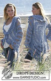 """Ravelry: 99-3 Circle jacket crochet with 2 strands """"Alpaca"""" pattern by DROPS design"""