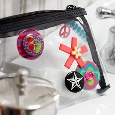This would be cute for a girls party favor and activity.  Just buy a bunch of ribbon and buttons and let the girls go to town!