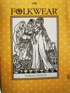 Amazon.com: Folkwear #108 Turkish Dancer Entari Robe Jacket Vest Sewing Costume Pattern: Arts, Crafts & Sewing
