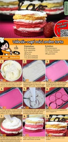 Valentinstag Mini Ombré Kuchen Rezept mit Video - Valentinstag Rezepte - - Valentinstag Mini OmbrYou can fin. Ombre Cake, Valentines Day Food, Different Cakes, Cupcakes, Food Cakes, Savoury Cake, Cakes And More, Other Recipes, Clean Eating Snacks