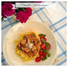 Pullantuoksuinen koti: Pinaatti-Kookoskana - Intialaissävytteinen. Spinach-Coconut chicken - Indian style.