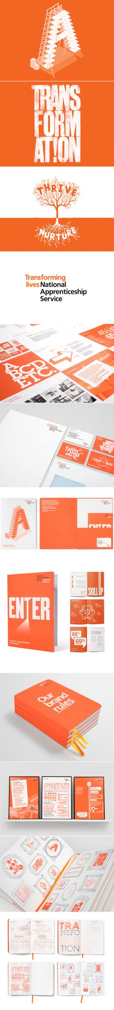 Single-color printing by National Apprenticeship Service – Identity by Purpose, London