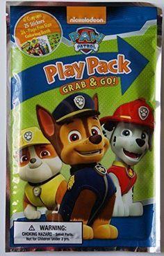 Paw Patrol Play Pack Grab & Go 1 Mini Coloring Book, 4 Crayons,& 25 Stickers~NEW #NickelodeonsPawPatrol