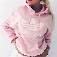 Pink adidas hoodie medium
