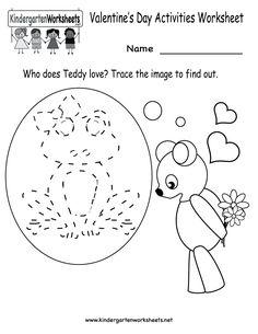 valentine 39 s day kindergarten math worksheets telling time kindergarten math worksheets and. Black Bedroom Furniture Sets. Home Design Ideas