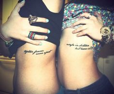 loooovee this! ♡ 'together forever, never apart' 'maybe in distance, but never in <3'