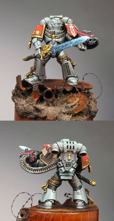 CoolMiniOrNot - Grey knight space marine by Yellow one