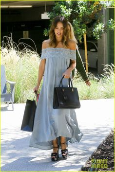 Jessica Alba Is Feeling 'Super Blessed' on Her Birthday: Photo #3642655. Jessica Alba looks radiant in an off-the-shoulder dress while arriving at her office on Thursday morning (April 28) in Los Angeles.     The actress and entrepreneur,…