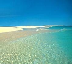 Underbara stränder i Kap Verde