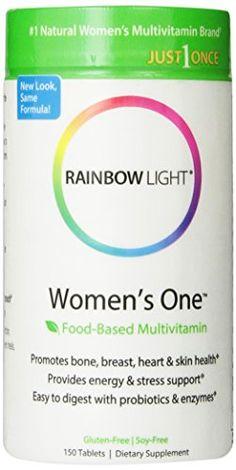 Rainbow Light Women's One Multivitamin 150 Tablets - http://vitamins-minerals-supplements.co.uk/product/rainbow-light-womens-one-multivitamin-150-tablets/