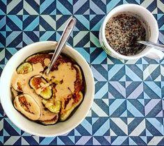 #breakfast #oatmeal #figs #peanutbutter #natural #protein #chiapudding #chiaseeds #almondmilk #homemade #nosugar #cinnamon #preworkoutmeal #fitbreakfast #healthy