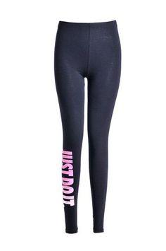 NORMOV S-XL 5 Colors Women Leggings Workout Plus Size Just Do It Pink Printed Women Fashion Loose Letter Leggings Women