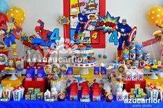 AZUCAR FLOR party studio: AVENGERS, Mateo 4 Más