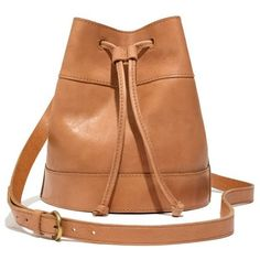 MADEWELL The Drawstring Bucket Bag found on Polyvore