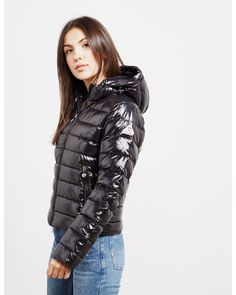 Pyrenex Spoutnic Shiny Jacket - available at Tessuti, the luxury designer retailer for Men, Women and Children. Puffy Jacket, Vest Jacket, Wind Jacket, Coats For Women, Jackets For Women, Clothes For Women, Nylons, Aviators Women, Urban Fashion