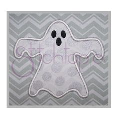 Halloween Ghost Applique by StitchtopiaInc on Etsy