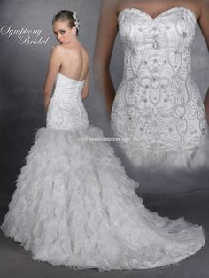 1000 images about wedding dresses faves on pinterest for Wedding dress with feathers on bottom
