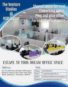 Best Coworking Space in Bangalore Power Backup, Best Places To Work, Shared Office, Site Visit, Call Backs, Coworking Space, Have Fun, Layout, Page Layout