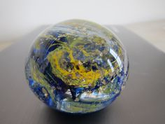 Swirling Planet Glass Paperweight by nautical2004 on Etsy, $20.00
