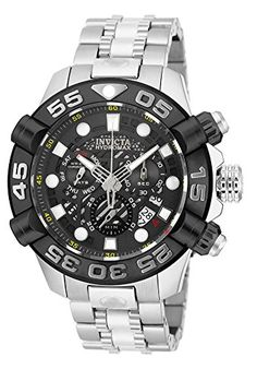 Invicta 19275 Men's Hydromax Chrono Stainless Steel Black Dial And Bezel Watch >>> Be sure to check out this awesome product. (This is an Amazon Affiliate link and I receive a commission for the sales)