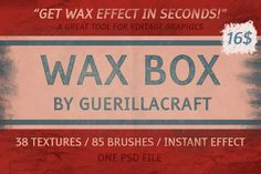 Wax Box - Wax Effect in seconds! by Guerillacraft on Creative Market
