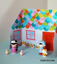 бумажный домик сделать
