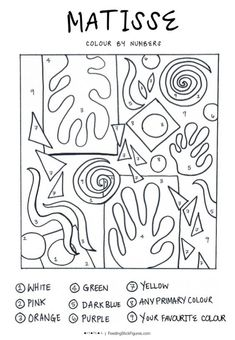 Image result for matisse shapes color page