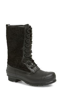 Genuine Shearling Waterproof Lace Up Boot by Hunter on @nordstrom_rack